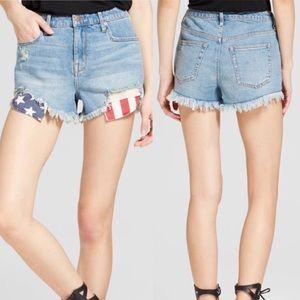 Mossimo Americana High Rise Shorts Size 14